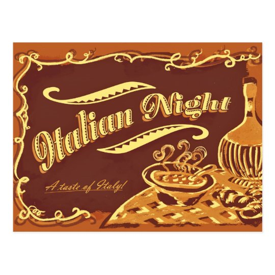 Italian Night Post Card