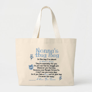 Italian - Nonna - Single Verse Jumbo Tote Bag