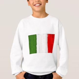 Italian oil painting style flag of Italy Sweatshirt