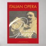 Italian Opera Enrico Caruso Poster