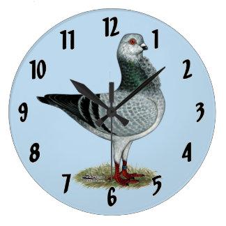 Italian Owl Grizzle Pigeon Large Clock