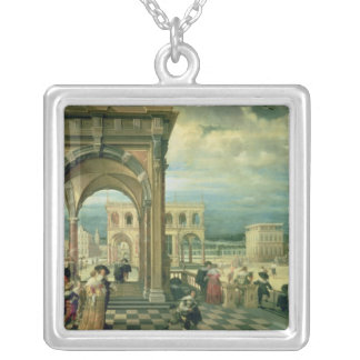 Italian Palace, 1623 Silver Plated Necklace
