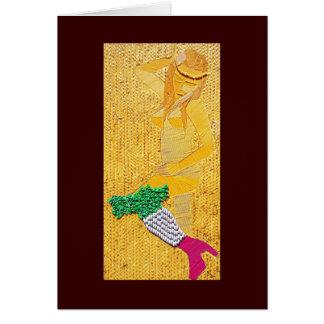 Italian Pasta Girl Greeting Card
