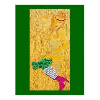 Italian Pasta Girl Postcard