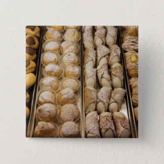 Italian pastries 15 cm square badge