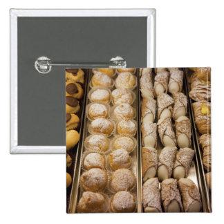 Italian pastries 15 cm square badge