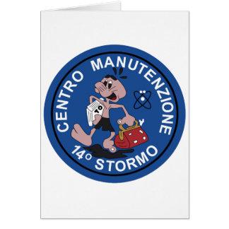 Italian Patch Air Force Aeronautica Militare AM 14 Greeting Cards