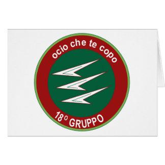 Italian Patch Air Force Aeronautica Militare AM 18 Greeting Card