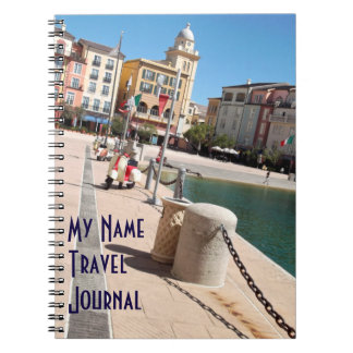 Italian Piazza Themed Travel Journal Spiral Note Books