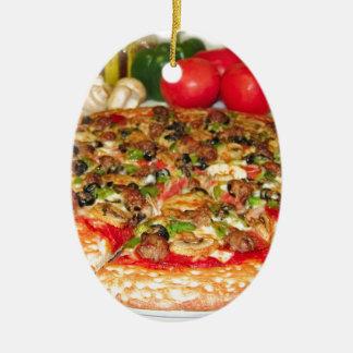 Italian Pizza Ceramic Oval Decoration