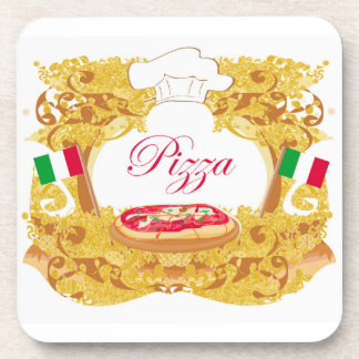 Italian pizza Cork Coaster