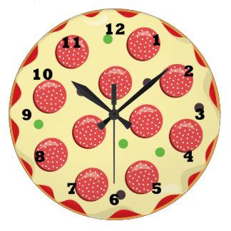 Italian pizza fun food wall kitchen clock