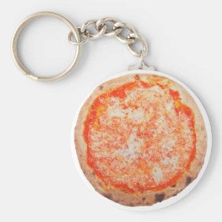 Italian pizza margherita keychain