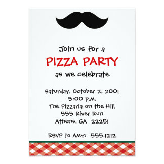 Italian Pizza Party Card