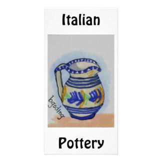 Italian Pottery Photo Greeting Card