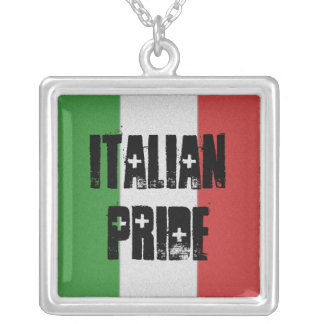 Italian Pride Italy Flag Necklace