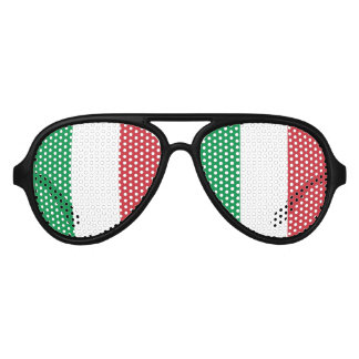 Italian pride party shades | Flag of Italy glasses