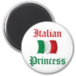 Italian Princess 6 Cm Round Magnet