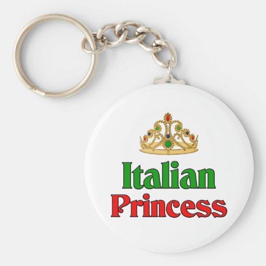 Italian Princess Basic Round Button Key Ring