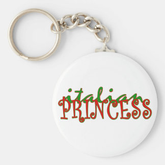 Italian Princess Basic Round Button Key Ring