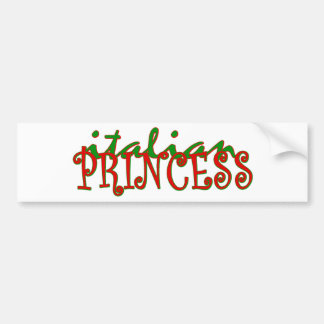 Italian Princess Bumper Sticker