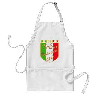 Italian Princess Club Crest Adult Apron