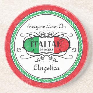 Italian Princess Personalized Coaster