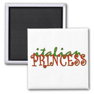 Italian Princess Square Magnet