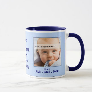 Italian Proud Grandmother Baby Blue Photo Mug