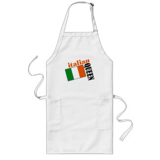 Italian Queen & Flag Long Apron