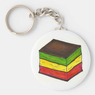 Italian Rainbow 7 Layer Christmas Cookie Keychain