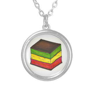 Italian Rainbow 7 Layer Christmas Cookie Necklace