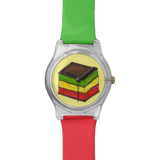 Italian Rainbow Christmas Seven Layer Cookie Watch