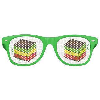 Italian Rainbow Seven Layer Christmas Xmas Cookie Retro Sunglasses