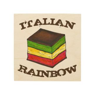 Italian Rainbow Seven Layer Cookie Baking Kitchen Wood Wall Decor