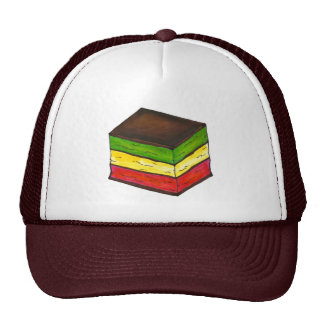 Italian Rainbow Seven Layer Cookie Christmas Hat