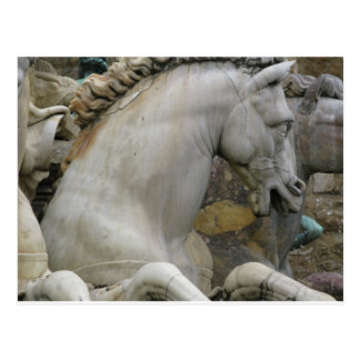 Italian Renaissance Sculpture of a  Horse Postcard