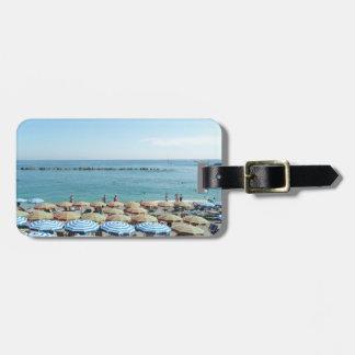 Italian Riviera, Cinque Terre, Beach Umbrellas Luggage Tag