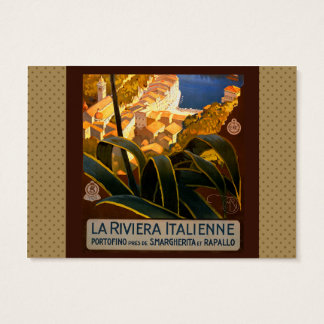 Italian Riviera Europe Italy Travel Poster Business Card