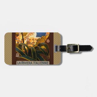 Italian Riviera Europe Italy Travel Poster Travel Bag Tags