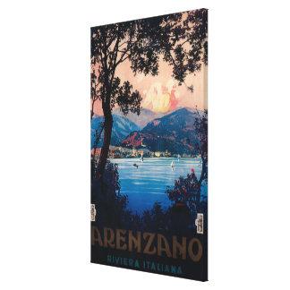 Italian Riviera Travel Poster Canvas Print