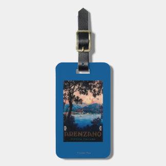 Italian Riviera Travel Poster Luggage Tag