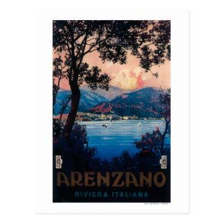 Italian Riviera Travel Poster Postcard