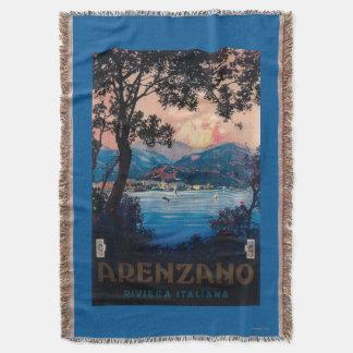 Italian Riviera Travel Poster Throw Blanket