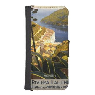 Italian Riviera vintage travel phone wallets