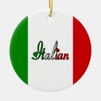 Italian Round Ceramic Decoration