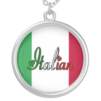 Italian Round Pendant Necklace