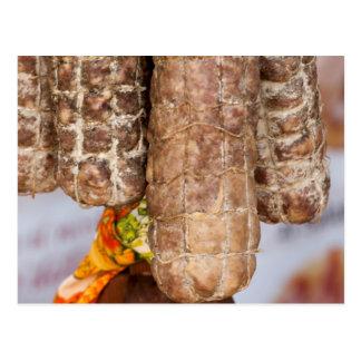 italian salami postcard
