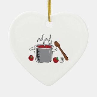 ITALIAN SAUCE COOKING CERAMIC HEART DECORATION