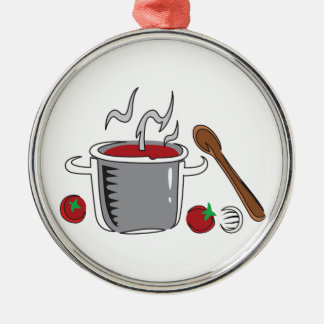 ITALIAN SAUCE COOKING Silver-Colored ROUND DECORATION